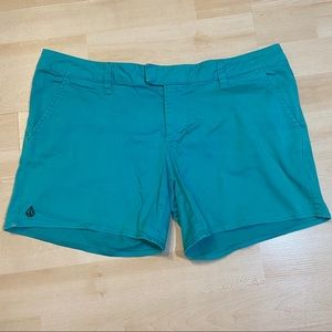 🛍3/$25 Volcom teal coloured shorts